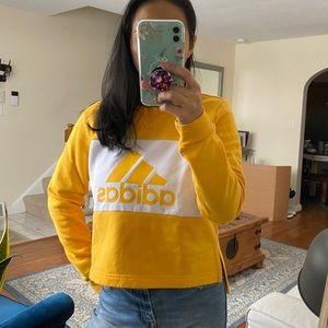 Adidas yellow pullover